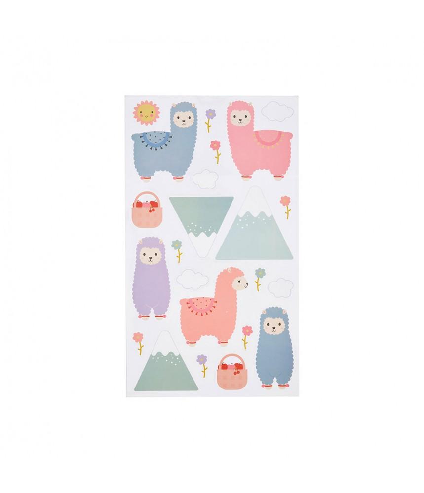 Muurstickers lama alpaca