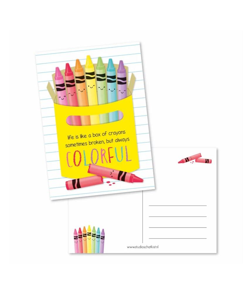 Kaart box of crayons (studio schatkist)