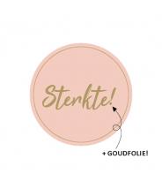 Sticker rond sterkte roze