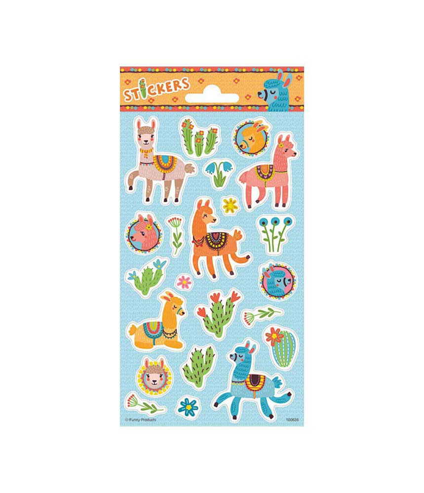 Stickervel alpaca lama