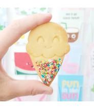 Koekjes in de vorm van ijsjes