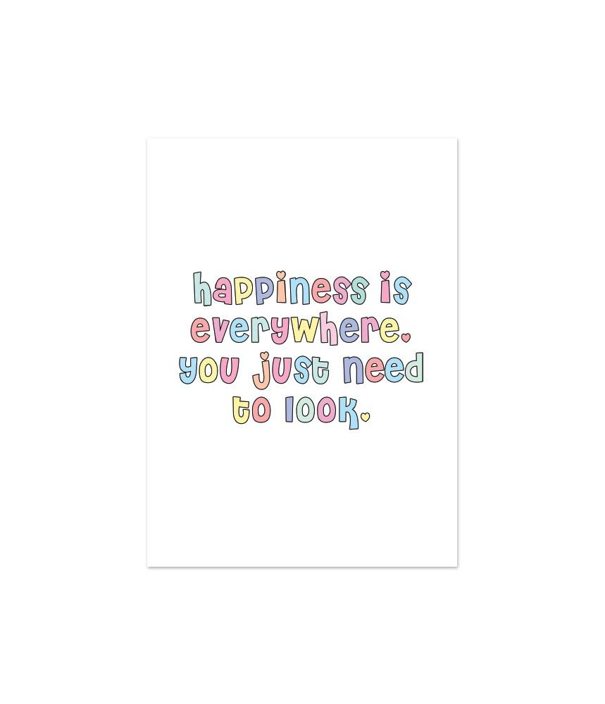 Kaart happiness is everywhere