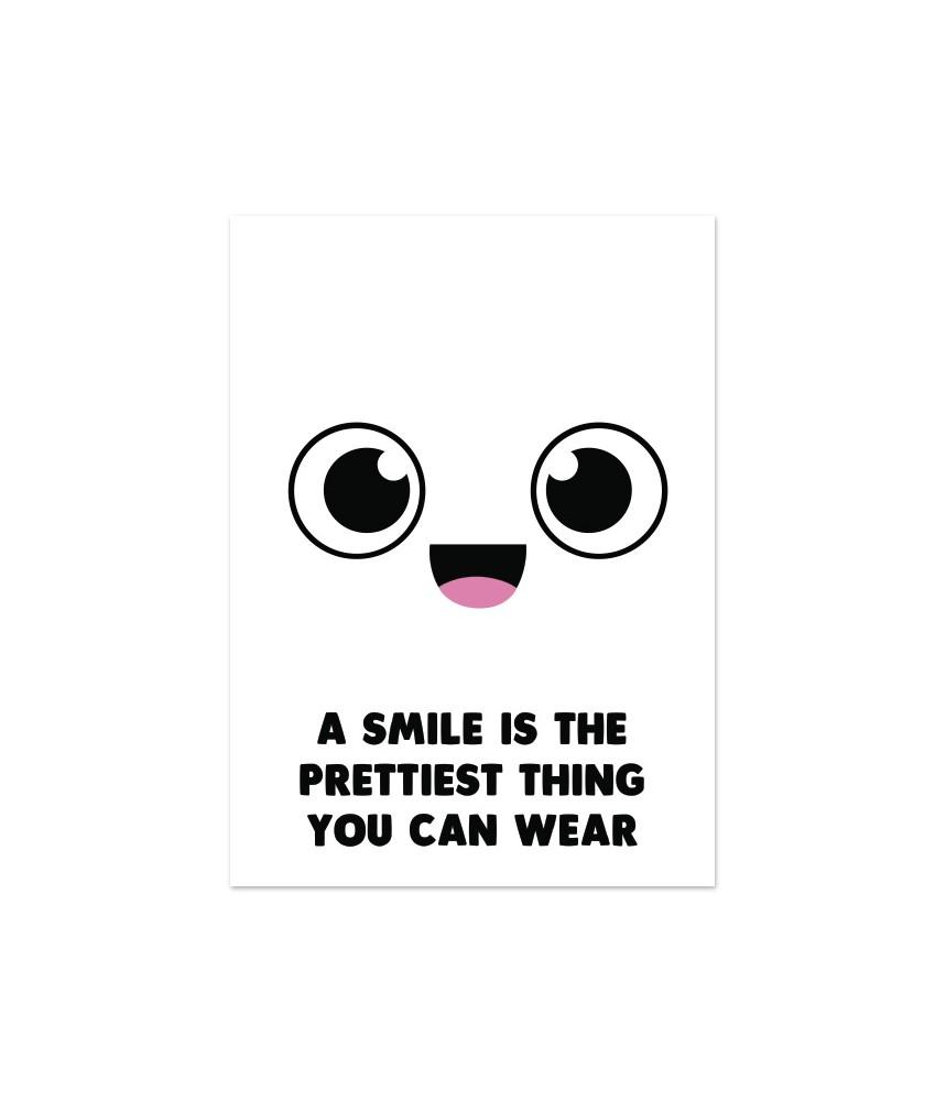 Kaart vrolijk gezichtje smile