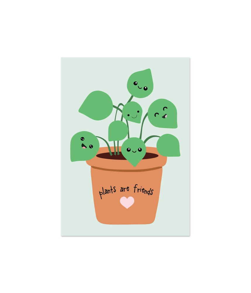 Kaart pilea plants are friends