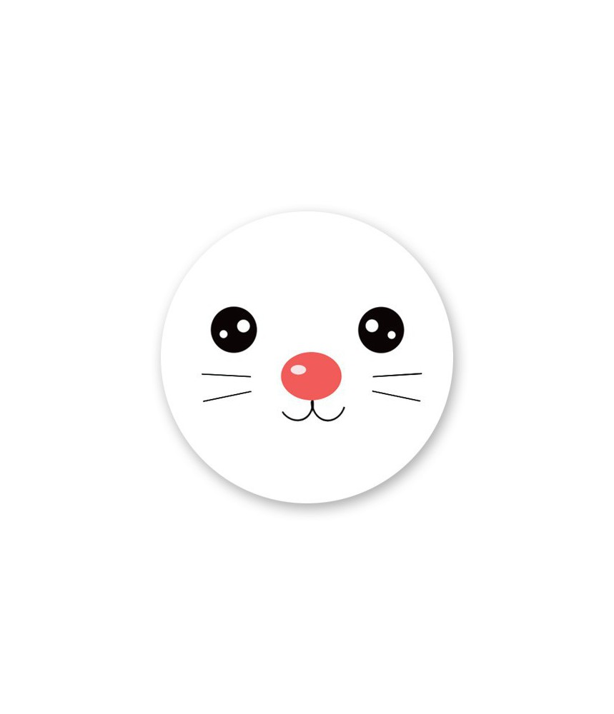 Stickers kerst konijn