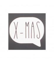 Stickers XMAS zwart vierkant