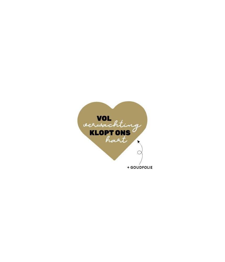 Stickers sinterklaas hart goud vol verwachting