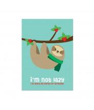 Kerstkaart luiaard sloth