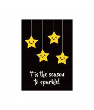 "Kerstkaart ""season to sparkle"""