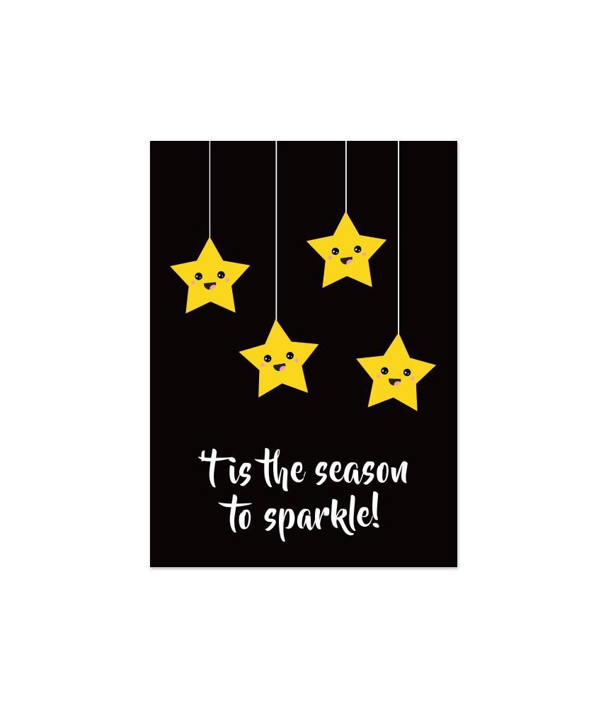 "Kerstkaart ""season to sparkle"""