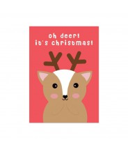 "Kerstkaart ""ohh deer it's christmas"""