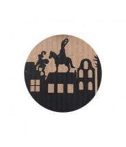 Stickers kraft Sinterklaas op dak