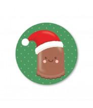 Stickers rond dikke kerst zoen