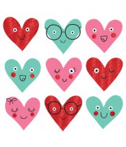 Die cuts papieren hartjes valentijn 5 stuks